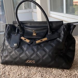 Joe Jeans Leather Quilted Tote Bag